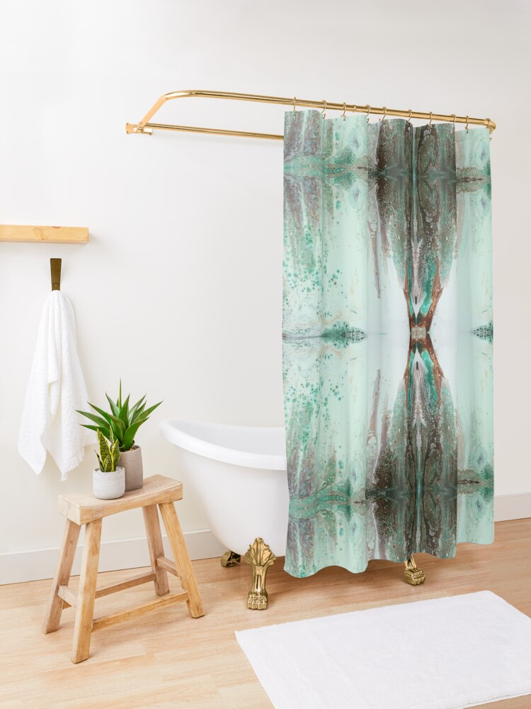 Alternate view of Before the Waterfall Shower Curtain