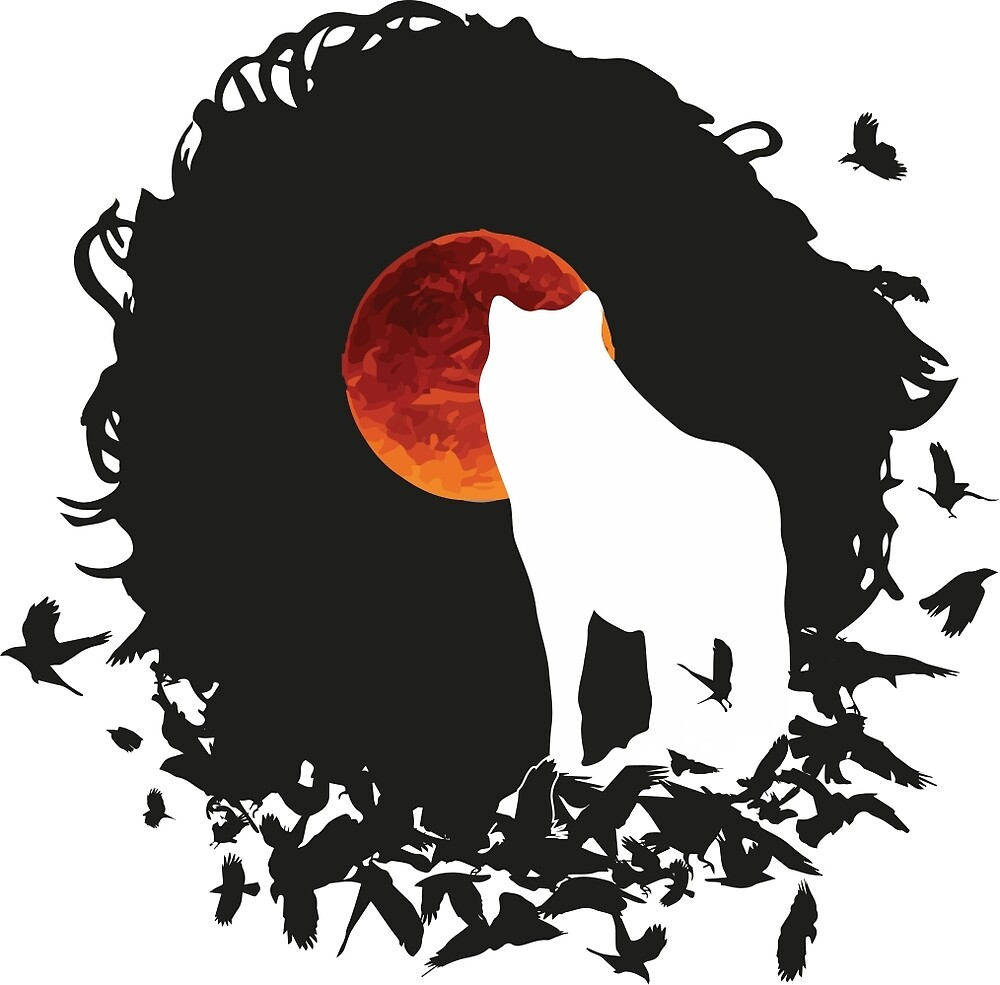 Crow and Wolf by overpowershirt