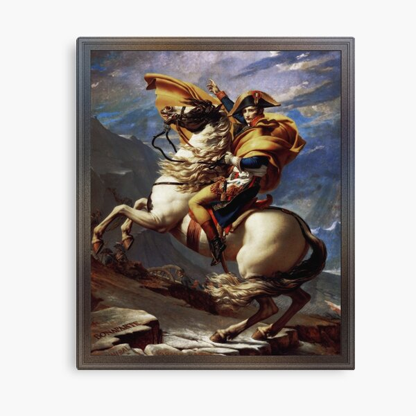 Napoleon Crossing The Alps by Jacques Louis David Old Masters Prints Canvas Print
