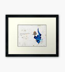 Arabische Kalligraphie - Rumi - Reise ins Selbst Gerahmtes Wandbild