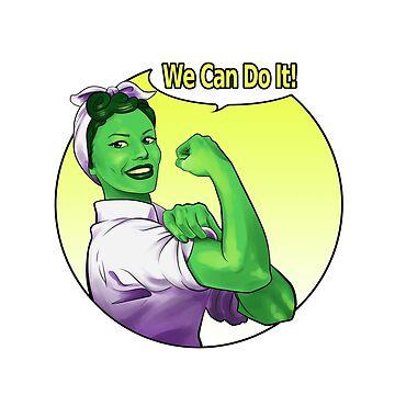 She-hulk the Riveter by elenadarkberry