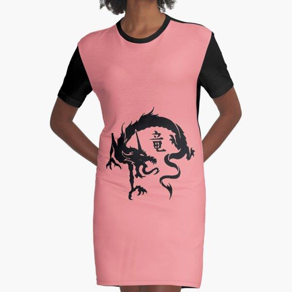 Chinese Dragon  Graphic T-Shirt Dress