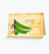 Arabic calligraphy - Rumi - Strange pull Greeting Card