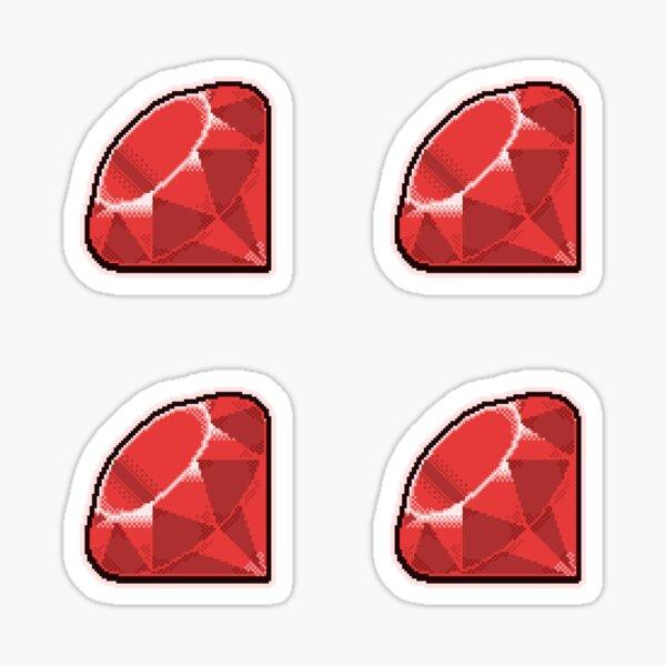 Ruby Pixel Art Sticker