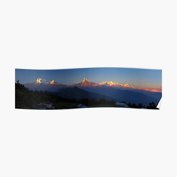 Annapurna, Hinchuli and Machhupuchare, Himalaya, Nepal. Poster