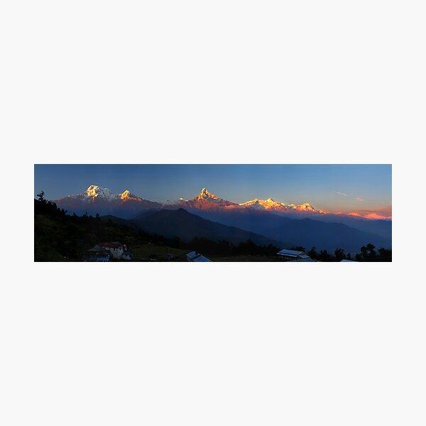 Annapurna, Hinchuli and Machhupuchare, Himalaya, Nepal. Photographic Print