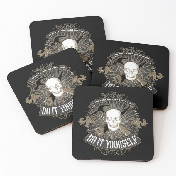 Do it yourself - Biker Style Coasters (Set of 4)
