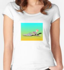 Abstract Woman On The Beach Women's Fitted Scoop T-Shirt