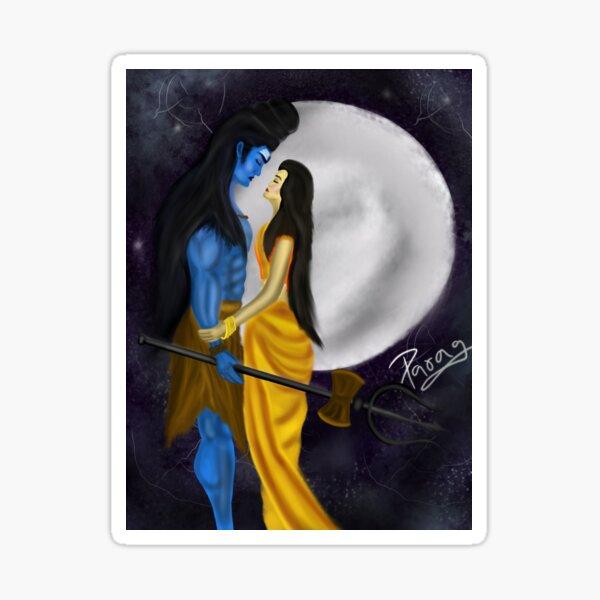 Shiva Parvati Stickers Redbubble 45 lord shiva and parvati romance. redbubble