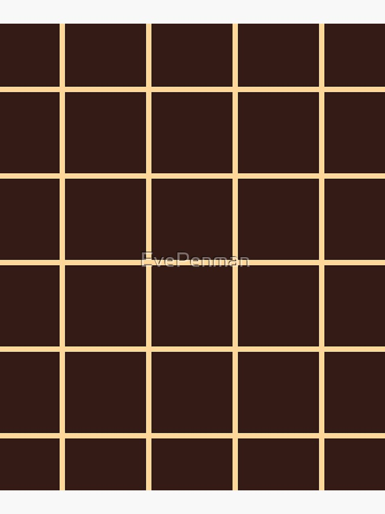 Brown Squares Graph Grid Illusion by EvePenman