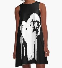 POODLE DOG LOVE YOU AND CHRISTMAS GIFT WRAPPED FOR YOU A-Line Dress