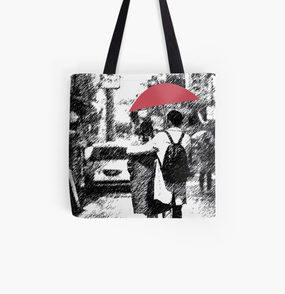 Rain All Over Print Tote Bag