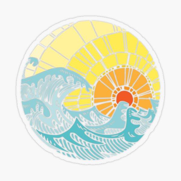 Pure sea Transparent Sticker