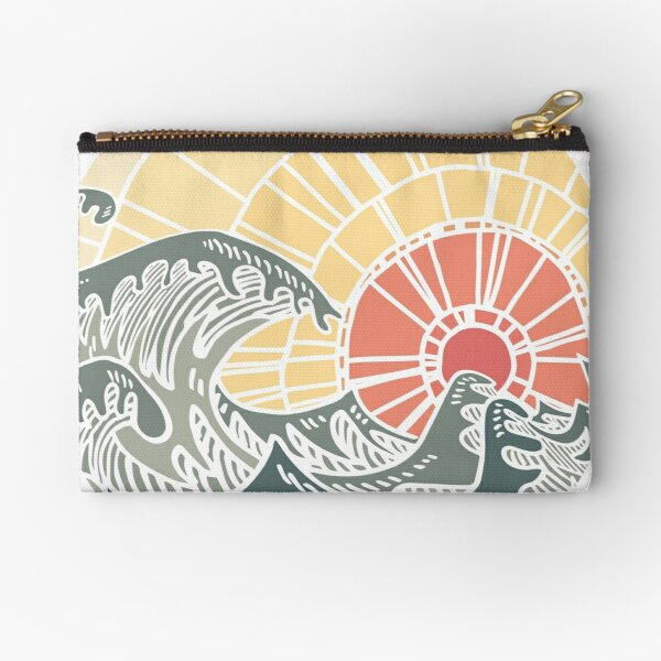 Pure sea vintage Zipper Pouch
