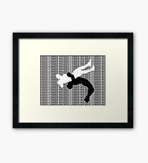 Freestyle Wrestling Suplex MMA  Framed Print