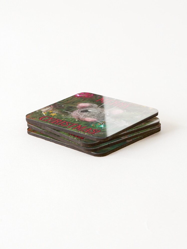 Alternate view of Merry Christmas Mouse Coasters (Set of 4)