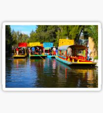 Xochimilco's Floating Gardens in Mexico City Sticker