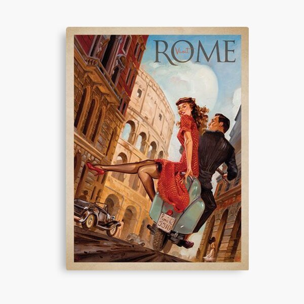 Romantic Travel in Rome - Away to Italy Framed Art Print Canvas Print