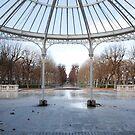 Winter park by the opera by Alexander Davydov