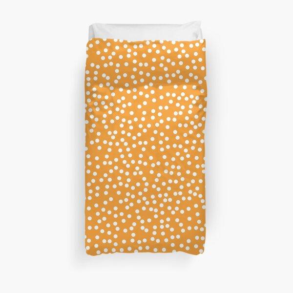 Bright Orange and White Polka Dots Duvet Cover