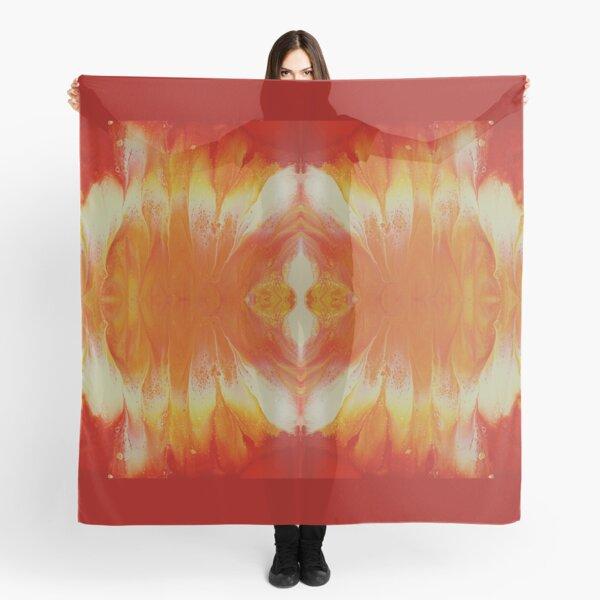 Campfire: fluid acrylic pour art Scarf