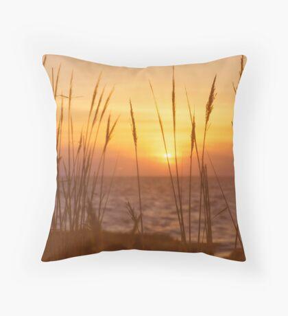 Sunset on Delaware Bay Throw Pillow