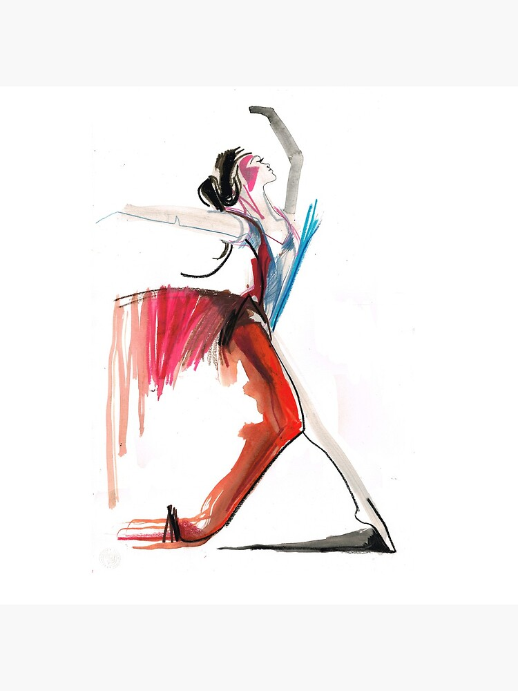 Expressive Ballerina Dance Drawing by CatarinaGarcia