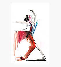 Expressive Ballerina Dance Drawing Photographic Print