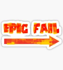 Epic Fail (colourful) Sticker
