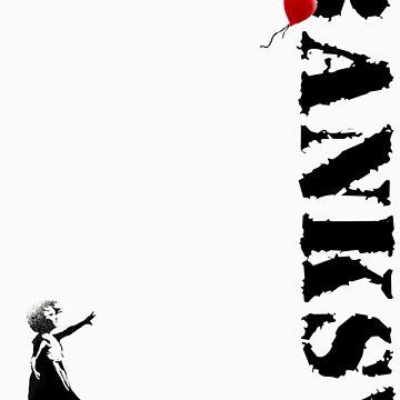 Banksy - litte girl, red balloon by tttechnicolors