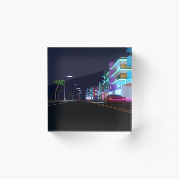 Neon Drive Acrylic Block