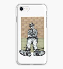 Harold Lloyd One of Those Days Drawing iPhone Case/Skin
