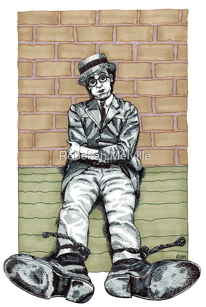 Harold Lloyd One of Those Days Drawing by Rebekah Melville