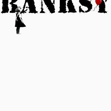 banksy - litte girl, red balloon sticker by tttechnicolors