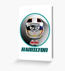 Lewis HAMILTON_2015_Helmet #44 Greeting Card