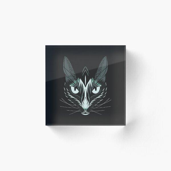 Dark Cat Acrylic Block
