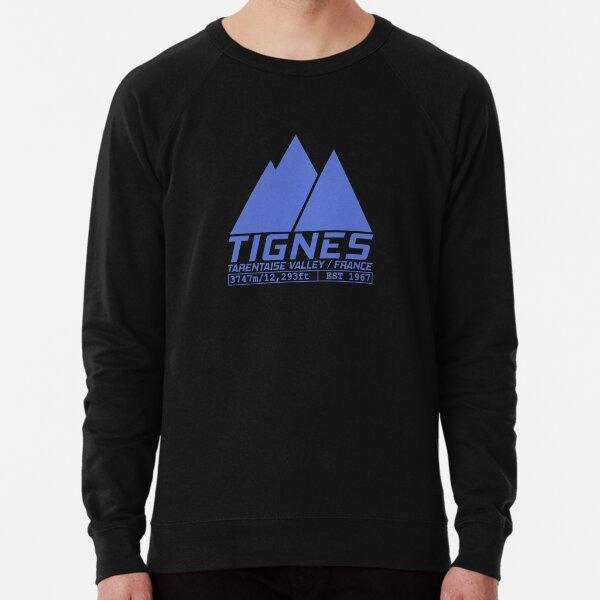 Tignes France Ski Resort Tarentaise Valley Skiing  Lightweight Sweatshirt