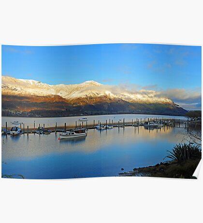 Wanaka at dawn. South Island, New Zealand. Poster