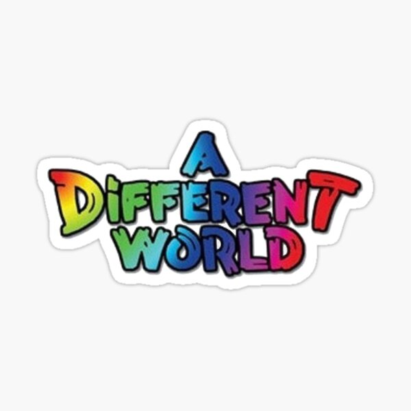 A Different World Logo Sticker