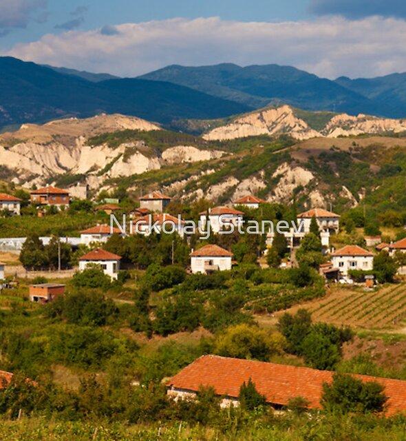 Bulgarian Village Panorama by Nickolay Stanev