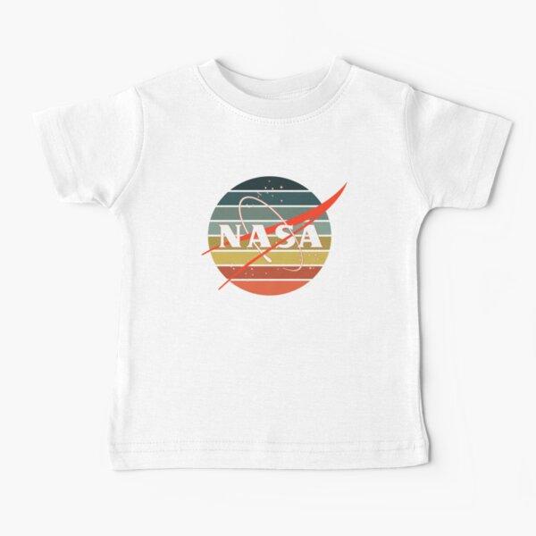 Vintage Retro NASA Logo Design USA Logo de la NASA Camiseta para bebés