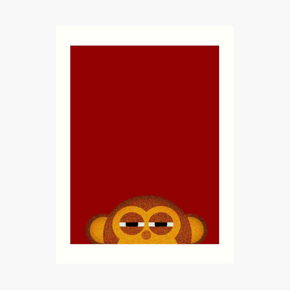 Pocket monkey is highly suspicious Art Print