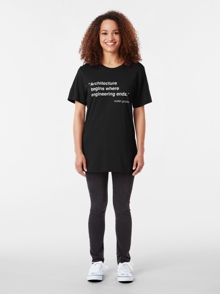 Alternate view of Architecture Quote - Walter Gropius Slim Fit T-Shirt