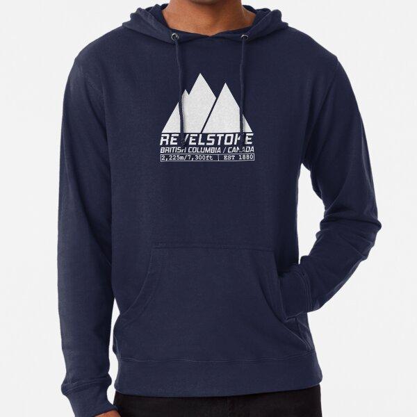 Ski Revelstoke British Columbia Canada Skiing and Snowboarding Lightweight Hoodie
