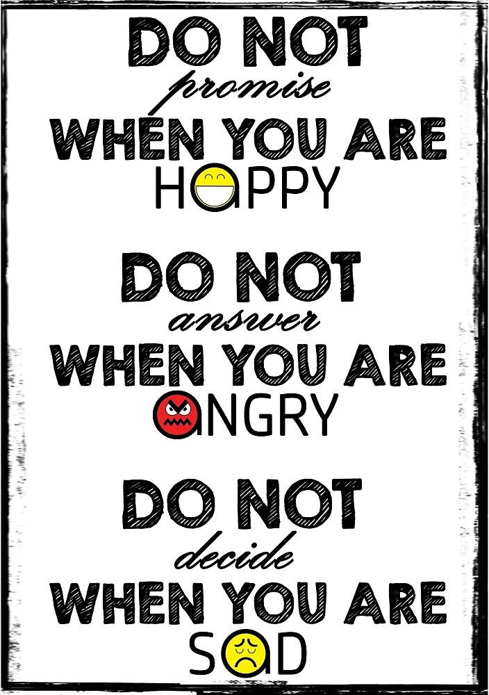 Do Not... (Black & White) by ciaca