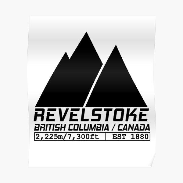 Ski Revelstoke British Columbia Canada Skiing and Snowboarding Poster