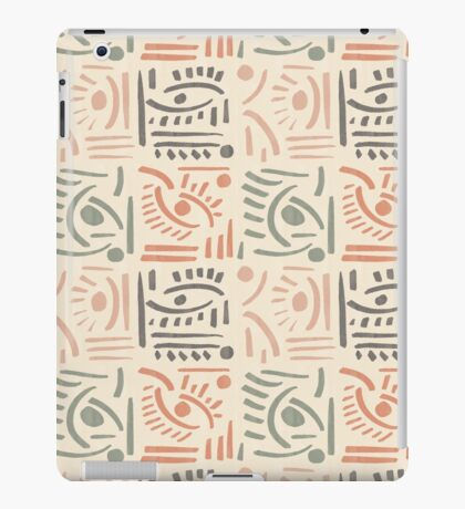 Tribal Eyes #redbubble #pattern iPad Case/Skin