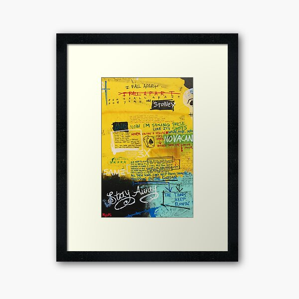 I Fall Apart Framed Art Print