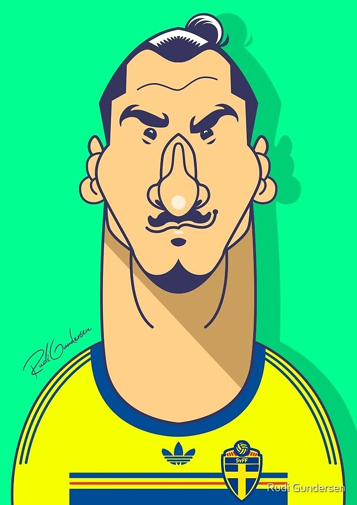 Zlatan Sweden by Rudi Gundersen