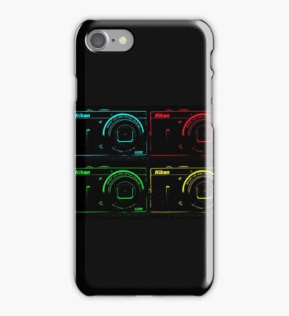 Nikon x 4 (PopArt) iPhone Case/Skin